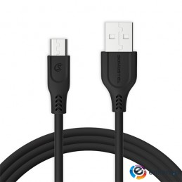 SOMOSTEL KABELL USB MICRO 3.1A CZARNY 3100MAH QUICK CHARGER QC 3.0 1M POWERLINE SMS-BT09