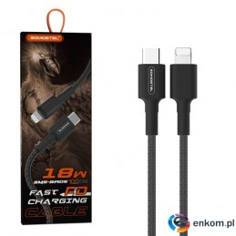 SOMOSTEL KABEL IPHONE POWER DELIVERY 18W TYP-C-IPHONE SMS-BW05 IPHONE BLACK