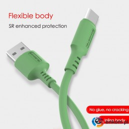 SOMOSTEL KABEL USB MICRO 3A SOMOSTEL ZIELONY 3100MAH QUICK CHARGER 1.2M POWERLINE SMS-BP06 MACARON SMS-BP06 ZIELONY
