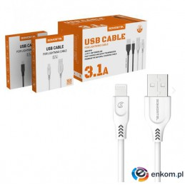 SOMOSTEL KABEL USB IPHONE 3.1A 3100MAH QUICK CHARGER QC 3.0 1M POWERLINE SMS-BT09 IPHONE BIAŁY