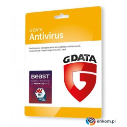 G DATA ANTIVIRUS 3PC 1 ROK KARTA-KLUCZ