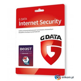G DATA INTERNET SECURITY 3PC 1 ROK KARTA-KLUCZ