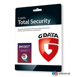 G DATA TOTAL SECURITY 2PC 1 ROK KARTA-KLUCZ