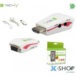 Adapter Techly HDMI-VGA2MA...