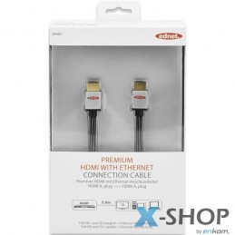 Kabel HDMI Ednet Highspeed...