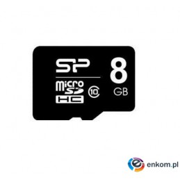 Silicon Power microSDHC 8GB CL10 + adapter