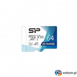 Silicon Power mSDXC Superior Pro V30 64GB UHS-1+ ad