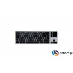 MATIAS KLAWIATURA ALUMINIOWA MAC TENKEYLESS BLUETOOTH SPACE GRAY FK408BTB-UK