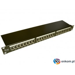 "Patch panel A-LAN PK010 (1U  19""  kat. 6  FTP  24xRJ-45)"