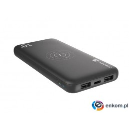 Powerbank Natec Extreme Media Trevi wireless 10000mAh czarny 10W