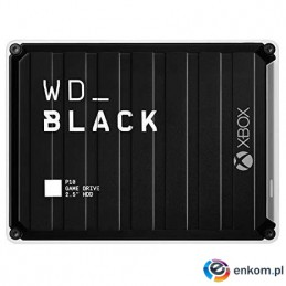 Dysk WD WD_BLACK P10 5TB USB 3.0 black for Xbox One