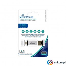 Pendrive MediaRange MR930 8GB USB 2.0 + MicroUSB