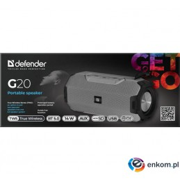 DEFENDER GŁOŚNIK G20 BLUETOOTH/FM/TF/USB 14W 65020