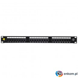 Patch panel 19'' Netrack 24-porty kat. 5e UTP, z półką