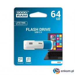 Pendrive GOODRAM UCO2 64GB USB 2.0 White-Blue