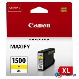 Tusz Canon 9195B001 (oryginał PGI1500XLY PGI-1500XLY  12 ml  żółty)
