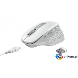 MYSZ TRUST OZAA RECHARGEABLE MOUSE WHITE