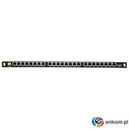 Patch panel 19'' Netrack 24-porty kat. 6 FTP, 0,5U z półką