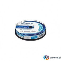 Płyta Blu-ray MediaRange MR496 25GB 4x speed (Cake 10) Inkjet Fullsurface Printable