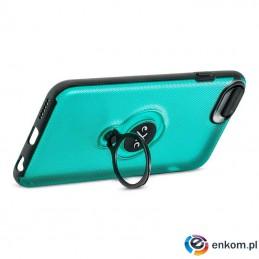 Etui na iPhone 7 eXc MAGNETIC transparentno-niebieskie