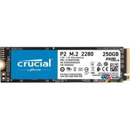 Dysk SSD Crucial P2 250GB M.2 PCIe NVMe 2280 (2100/1150MB/s)