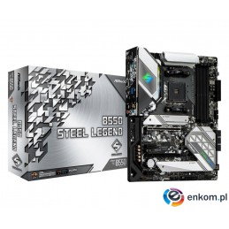 Płyta ASRock B550 Steel Legend/AMD B550/DDR4/SATA3/M.2/USB3.1/PCIe4.0/AM4/ATX