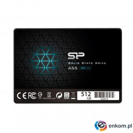 "Dysk SSD Silicon Power A55 512GB 2.5"" SATA3 (560/530) 3D NAND, 7mm"