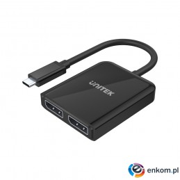 UNITEK ADAPTER USB-C 2X PORT DP 1.4 8K 60HZ, V1407
