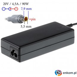 Zasilacz sieciowy Akyga AK-ND-18 do notebooka 20V/4,5A 90W 7,9x5,5mm + pin