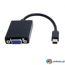 Kabel adapter Akyga AK-AD-39 VGA F - mini DisplayPort M 0,15m czarny