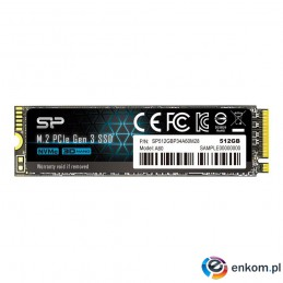Dysk SSD Silicon Power A60 512GB PCIe Gen3x4 NVMe (2200/1600 MB/s) 2280