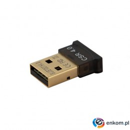 Adapter SAVIO BT-040 (USB 2.0 M - Bluetooth 4.0 M  kolor czarny)