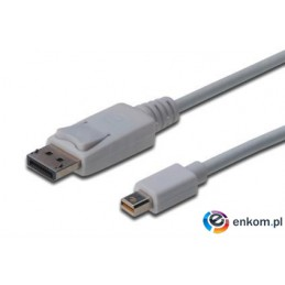 Kabel Assmann AK-340102-030-W (DisplayPort M - Mini DisplayPort M  3m  kolor biały)