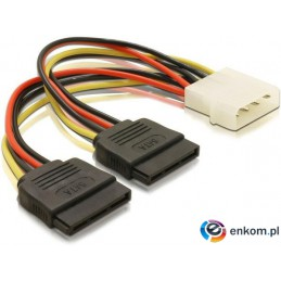 Kabel DELOCK 60102 (Molex 4-pin - SATA )