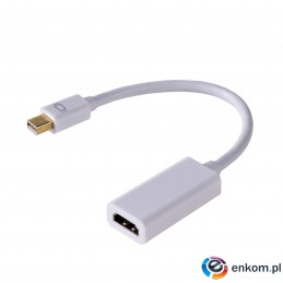 Adapter Akyga AK-AD-38 (Mini DisplayPort M - HDMI F  0,15m  kolor biały)