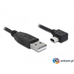 Kabel DELOCK 82680 (USB M - Mini USB M  kolor czarny)