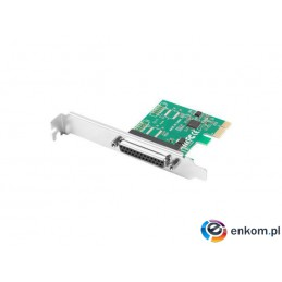 Karta Lanberg PCI Express -  LPT (DB25) x1 + śledź low profile