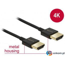 Kabel HDMI Delock HDMI High Speed Ethernet 4K 3D M/M Slim 3m