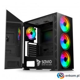 Obudowa PC SAVIO Prime X1 ARGB Glass