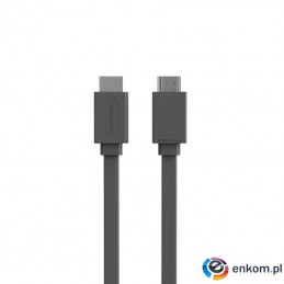 Kabel allocacoc HDMIcable Flat 10577GY/HDMI3M (HDMI M - HDMI M  3m  kolor szary)