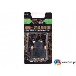 Adapter HDMI Natec Extreme Media HDMI(F)- DVI-D(M)(18+1) Single Link  (blister)