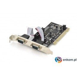 Kontroler COM Digitus PCI 2xRS-232/COM, Low Profile, Chipset: MCS9865