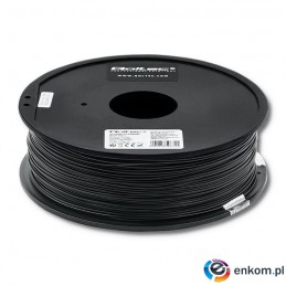 Filament Qoltec do druku 3D | PLA PRO | 1,75mm | 1kg | Black