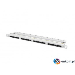 Patch panel Lanberg PPU6-0024-S 24 port 0.5U kat.6 szary