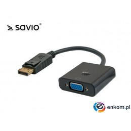 Adapter Savio DisplayPort - VGA CL-90