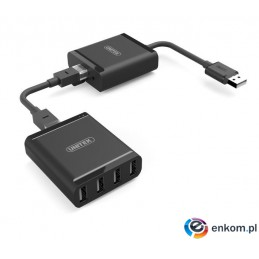 Przedłużacz Unitek Y-2516 USB 2.0 over IP do 100m do 4x USB