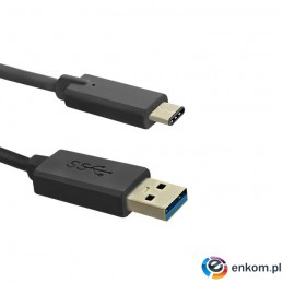 Kabel USB Qoltec 3.1 typC / USB 3.0 AM  1m