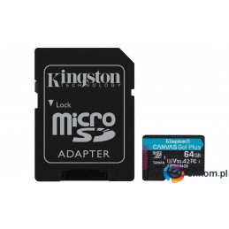 KINGSTON microSDXC Canvas Go Plus 64GB + adapter
