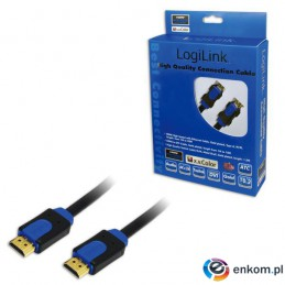 Kabel HDMI LogiLink CHB1105 High Speed Ethernet, 5m