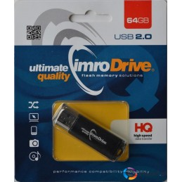 Pendrive IMRO BLACK/64GB (64GB  USB 2.0  kolor czarny)
